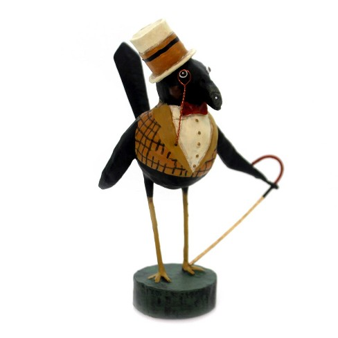 """Lori Mitchell 6.5"""" Old Crow Cane Top Hat Halloween - image 1 of 2"""