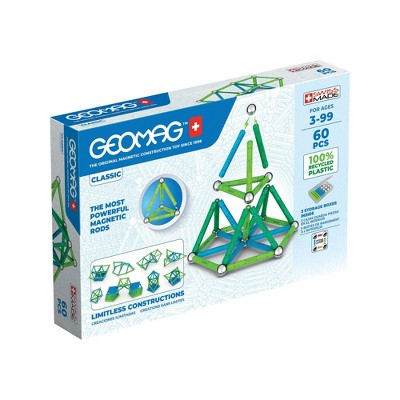 Geomag GREEN LINE Color Magnetic Building Set 60pc