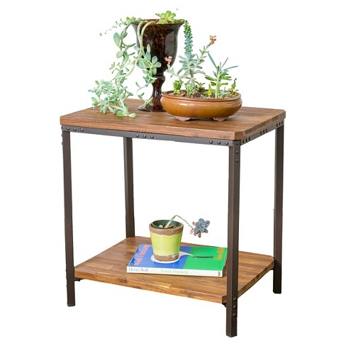 Ronan Rustic End Table Christopher Knight Home