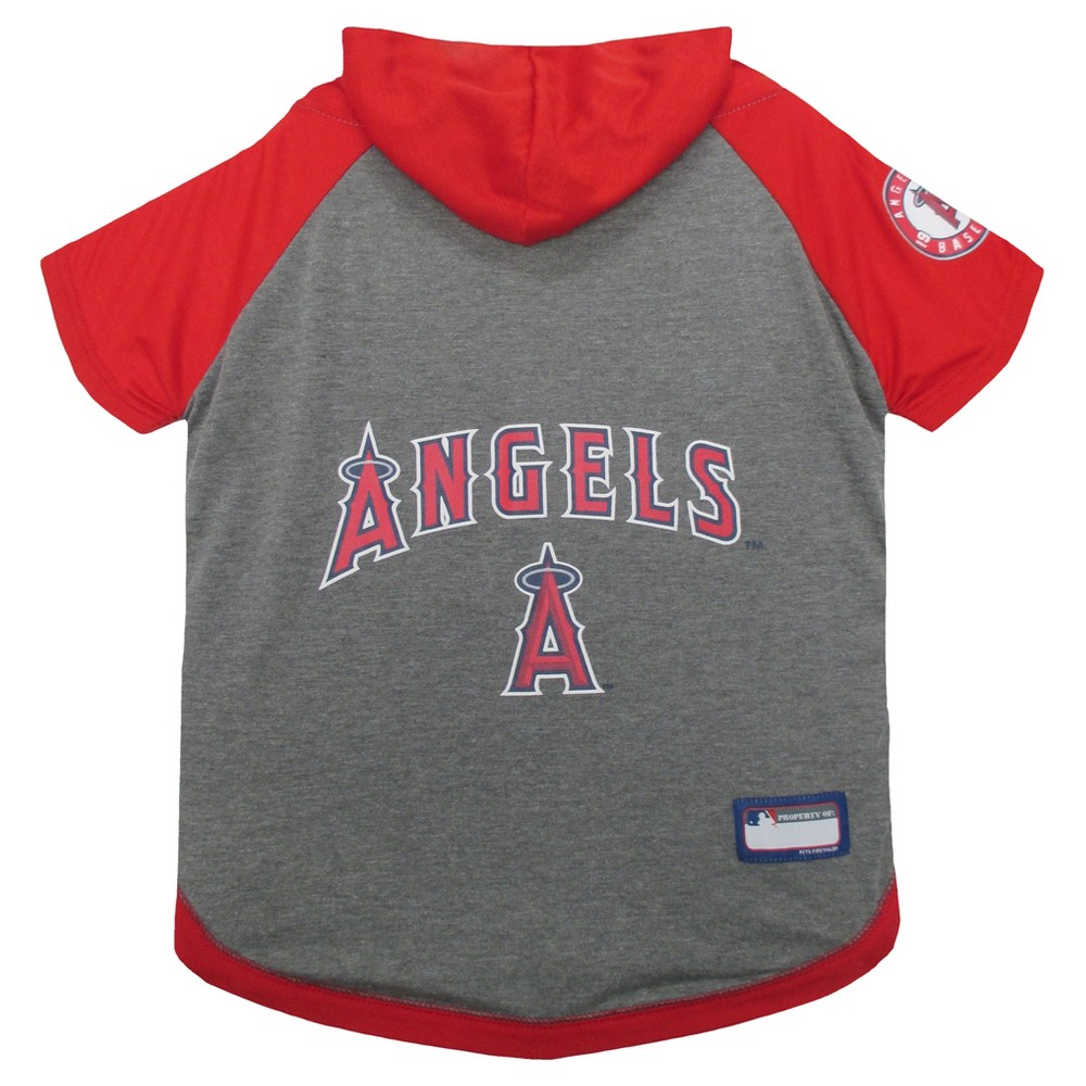 Los Angeles Angels Pets First Pet Baseball Hoodie Shirt - Gray M