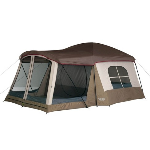 Wenzel Klondike 8 Person Large Outdoor Camping Tent W Screen Room Brown Target