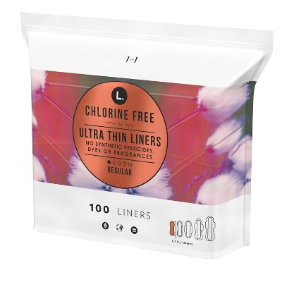 L. Chlorine Free Ultra Thin Liners - 100ct