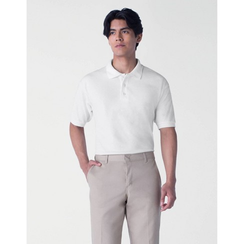 Dickies Men's Pique Uniform Polo Shirt White 4XL