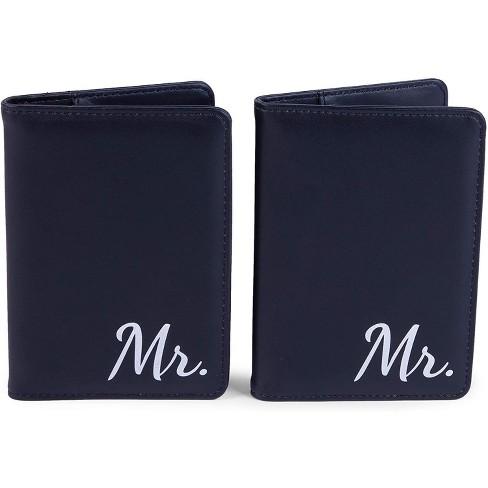 RFID Blocking Passport Holder, Mr. & Mr Design (Set of 2) - image 1 of 4