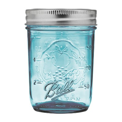 Ball 4ct 8oz Collection Elite Glass Mason Jar with Lid and Band - Regular Mouth