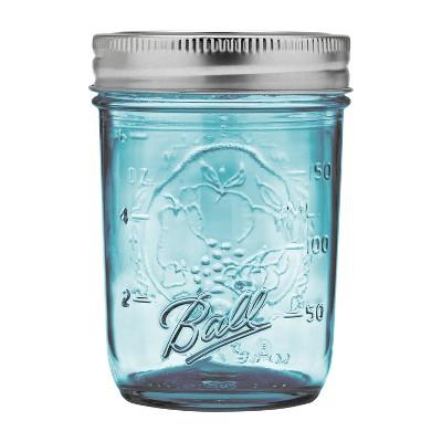 Ball 4ct 8oz Collection Elite Glass Mason Jar with Lid and Band - Regular Mouth