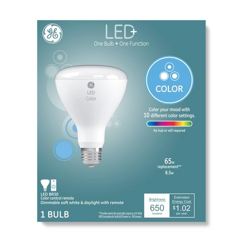 General Electric Color Changing LED+ Light Bulb BR30 With Remote Clear - image 1 of 4