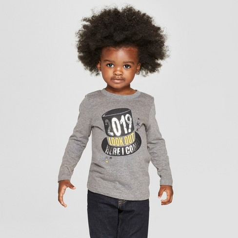 d5ae57892ce Toddler Boys  2019 Look Out Here I Come Long Sleeve T-Shirt - Cat   Jack™  Gray