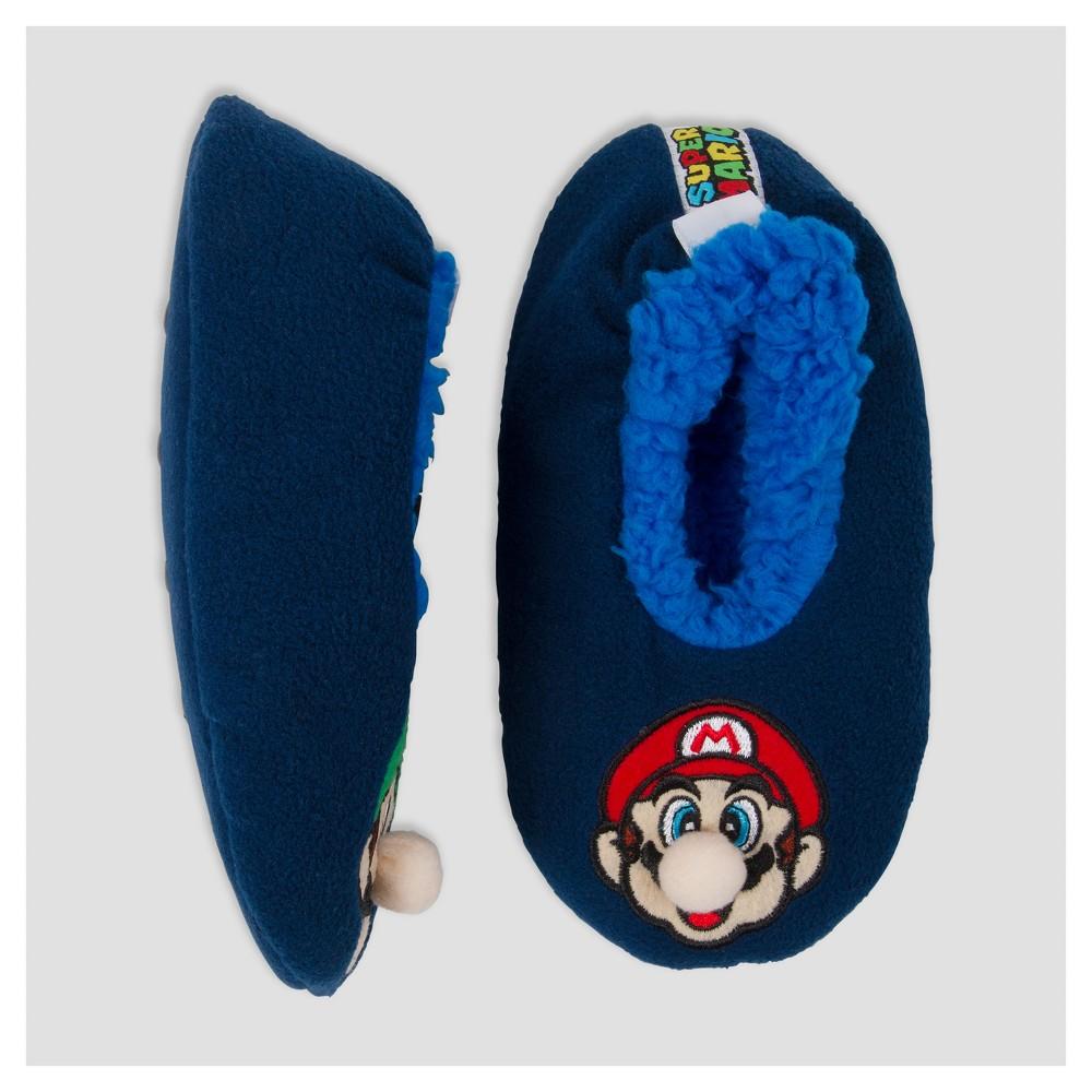 Kids' Super Mario slipper socks - M, Kids Unisex, Size: M/L (13-4), Multicolored