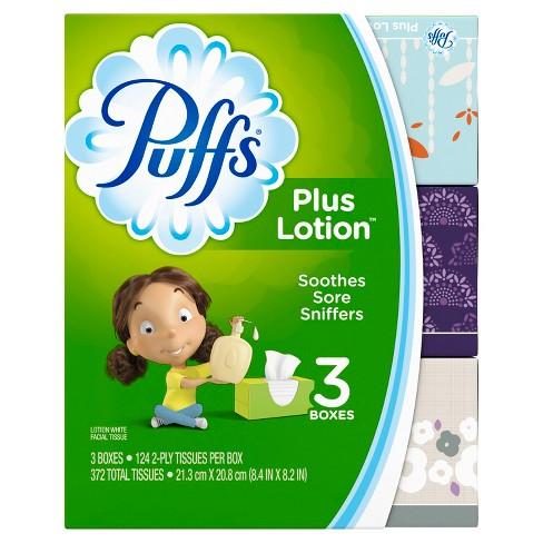 Puffs Plus Lotion Facial Tissue - 3pk - image 1 of 9