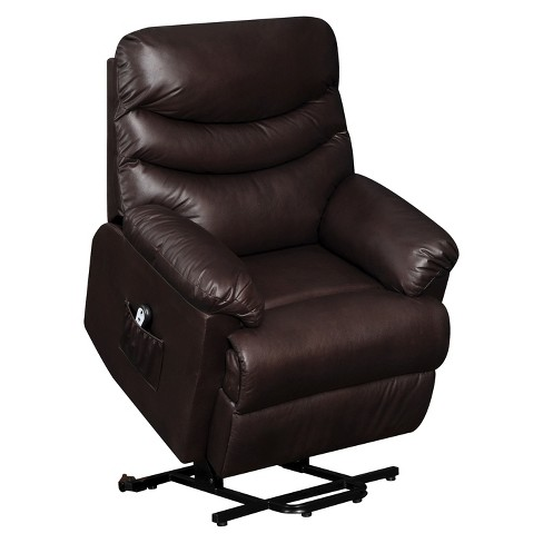 Wall Hugger Convert-a-Couch Renu Leather Power Lift Recliner Chair -  ProLounger - image 1 of 5