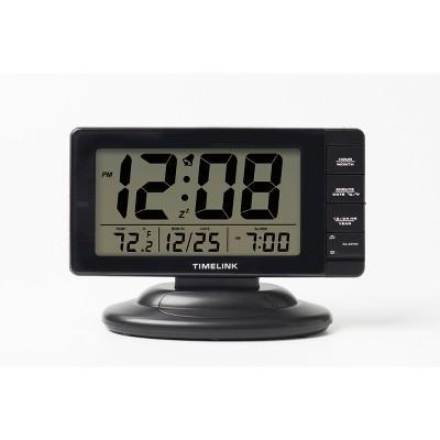 Deluxe Smart Light Calendar Table Clock Black - Timelink