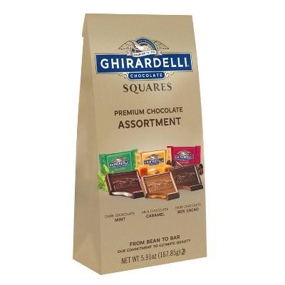 Ghirardelli Premium Assortment Chocolate Squares Bag - 5.91oz