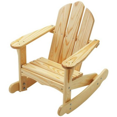 Little Colorado 141UNF Durable Handcrafted Knotty Pine Kids Outdoor Patio Classic Adirondack Rocking Chair for Children Ages 2 to 7 Years, Unfinished