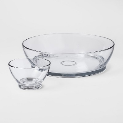 Classic Glass Chip and Dip Set - Threshold™