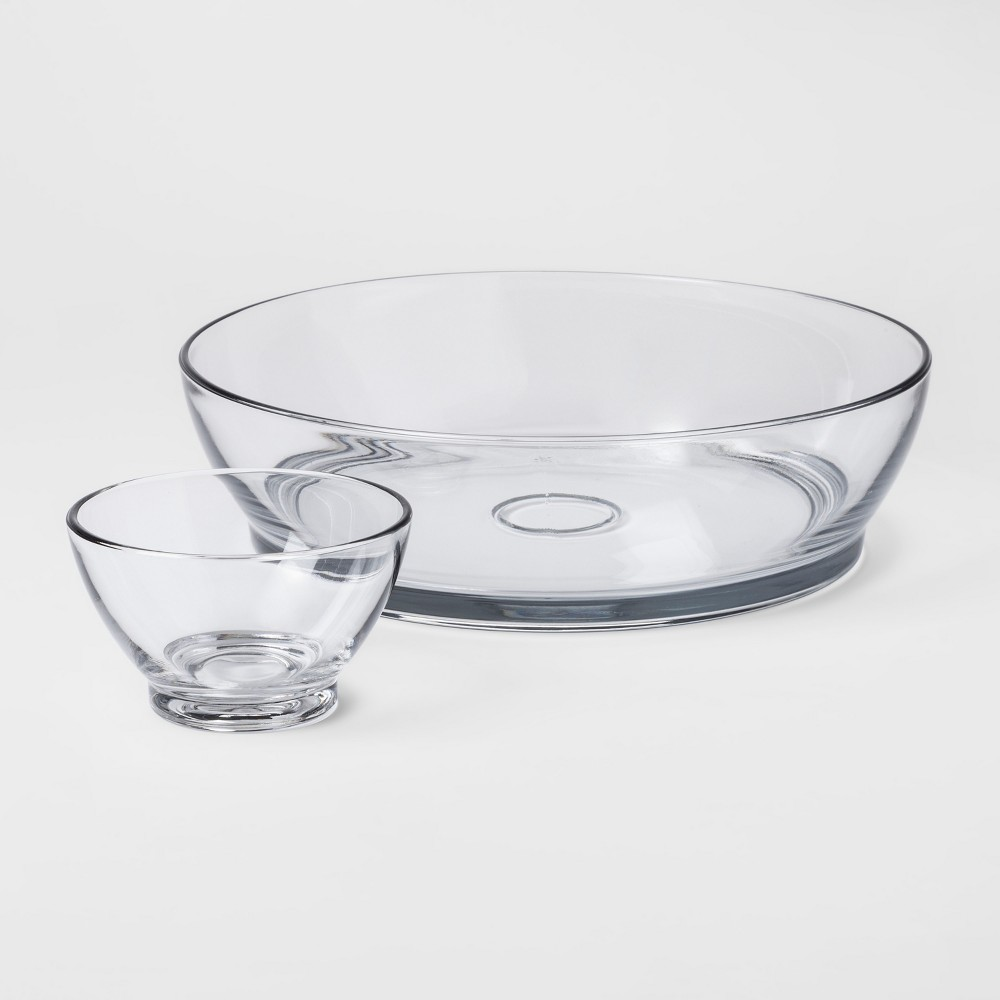 Classic Glass Chip and Dip Set - Threshold, Clear