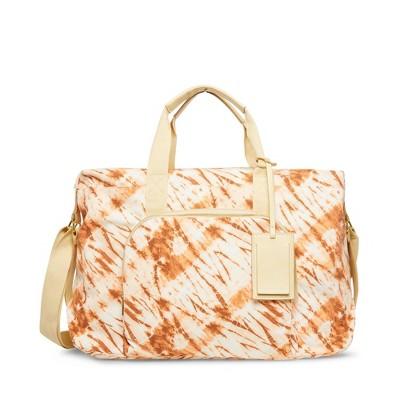 Madden Girl Women's Dakota Weekender Bag - Natural Beige