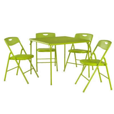 5 Piece Folding Table and Chair Set - Apple Green - Cosco