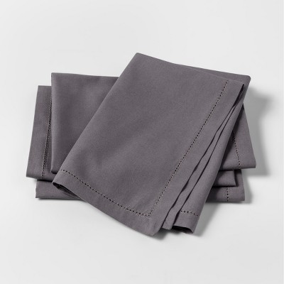 Gray Solid Napkins 4pk - Threshold™