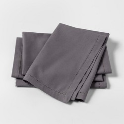 4pk Solid Napkins Gray - Threshold™