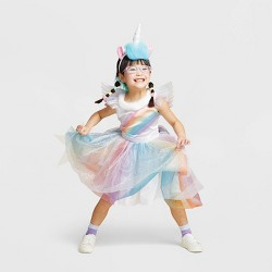 Girls' Rainbow Unicorn Halloween Costume - Hyde & EEK! Boutique™