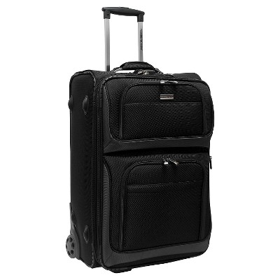 """Traveler's Choice Conventional II 26"""" Rugged Rollaboard Spinner Suitcase  - Black"""
