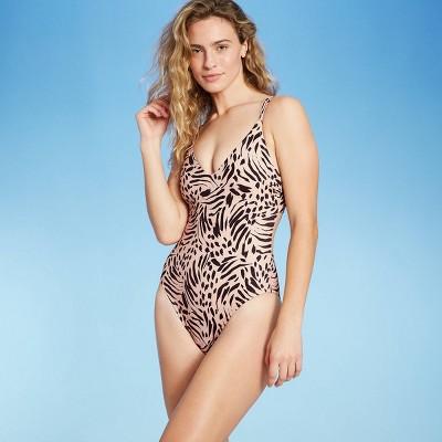 Women's Double Strap Tie Back Monokini One Piece Swimsuit - Shade & Shore™