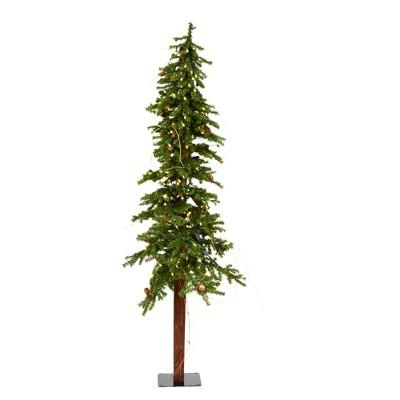 Vickerman Artificial Alpine Tree with Pine Cones & Vine
