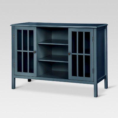 Windham Two-Door with shelves Storage Cabinet Overcast - Threshold™