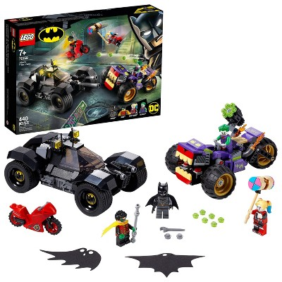 LEGO DC Batman Joker's Trike Chase Batmobile Playset with Action Minifigures 76159