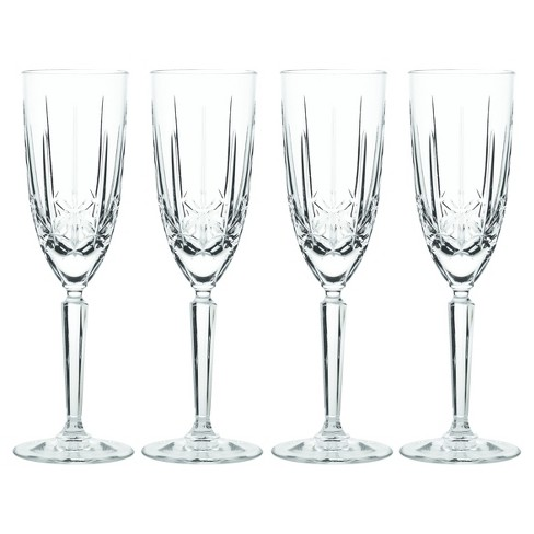 Marquis By Waterford Sparkle Crystal Champagne Flute 8oz Set Of 4