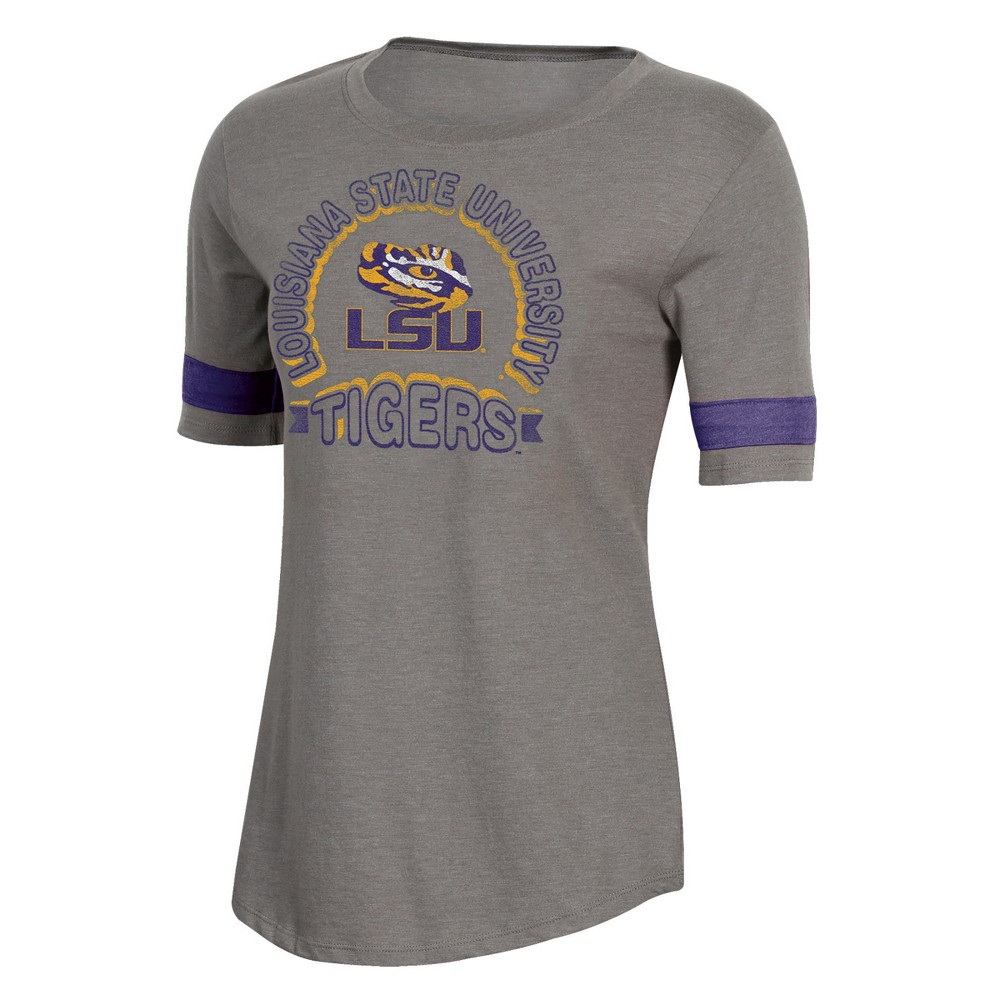 NCAA Women's Short Sleeve Scoop Neck T-Shirt Lsu Tigers - XL, Multicolored