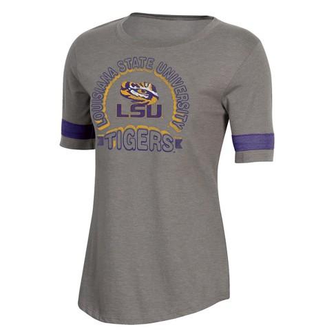 NCAA Women's Short Sleeve Scoop Neck T-Shirt LSU Tigers - image 1 of 2