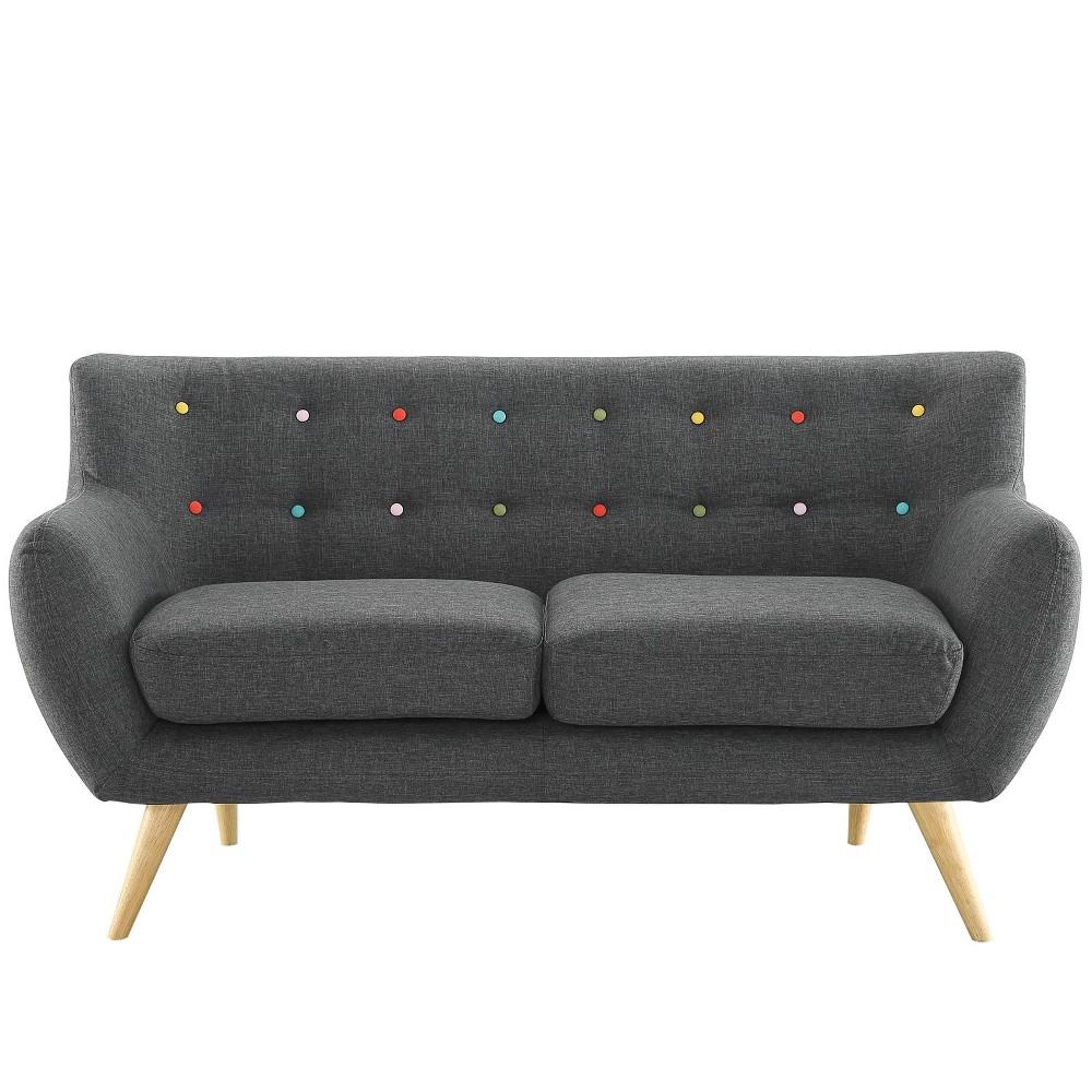 Remark Upholstered Loveseat Gray - Modway