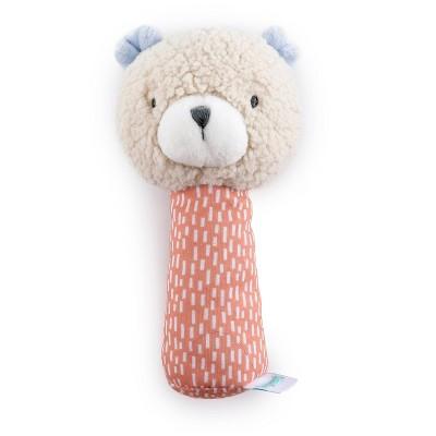 Ingenuity Premium Soft Plush Handheld Rattle - Nate the Teddy Bear