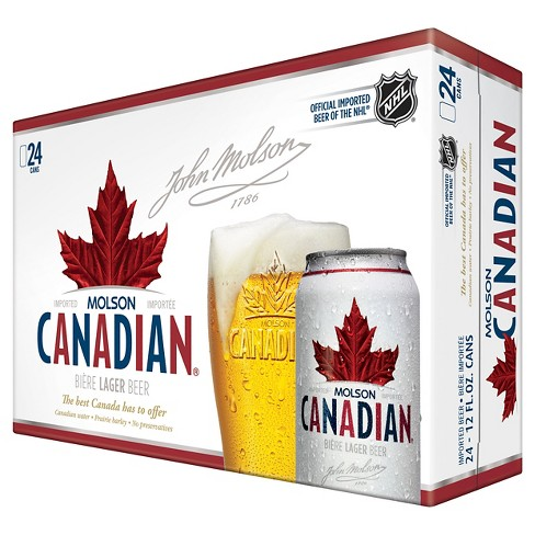 Molson® Canadian Beer - 24pk / 12oz Cans - image 1 of 1