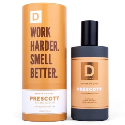Duke Cannon Woodsy & Light Citrus Prescott Men's Proper Cologne - 1.7 fl oz