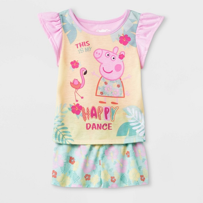 Toddler Girls' Peppa Pig 2pc Pajama Set - Pink - image 1 of 1