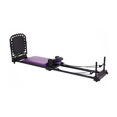 Stamina 55-4379 AeroPilates Reformer Plus 379 Whole Body Resistance Padded Pilates Workout System with 4 bands for 11 Combinations of Intensity