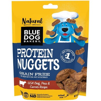 Blue Dog Bakery Protein Nuggets Beef, Peas and Carrots Dog Treats - 6oz