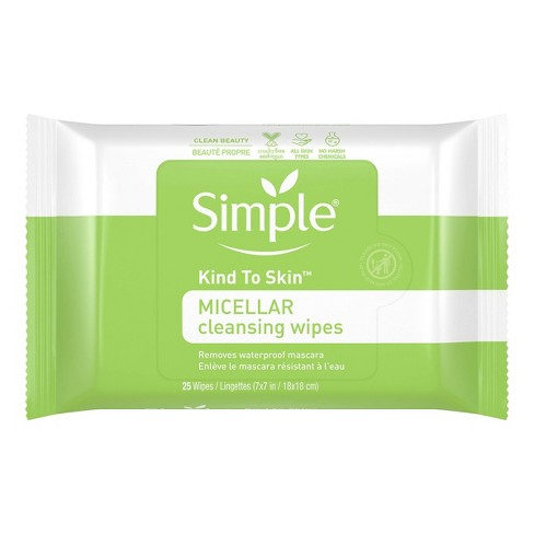Unscented Simple Kind to Skin Micellar Makeup Remover Wipes - 25ct - image 1 of 3