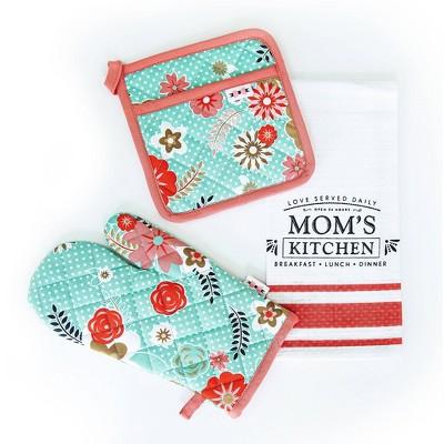 3pc Cotton Mom's Kitchen Textile Set - Simply Whimsical