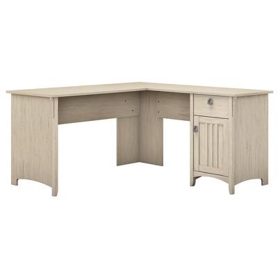 Salinas L Shaped Desk with Storage - Bush Furniture