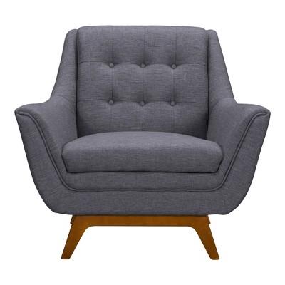 Janson Mid-Century Sofa Chair Dark Gray - Armen Living