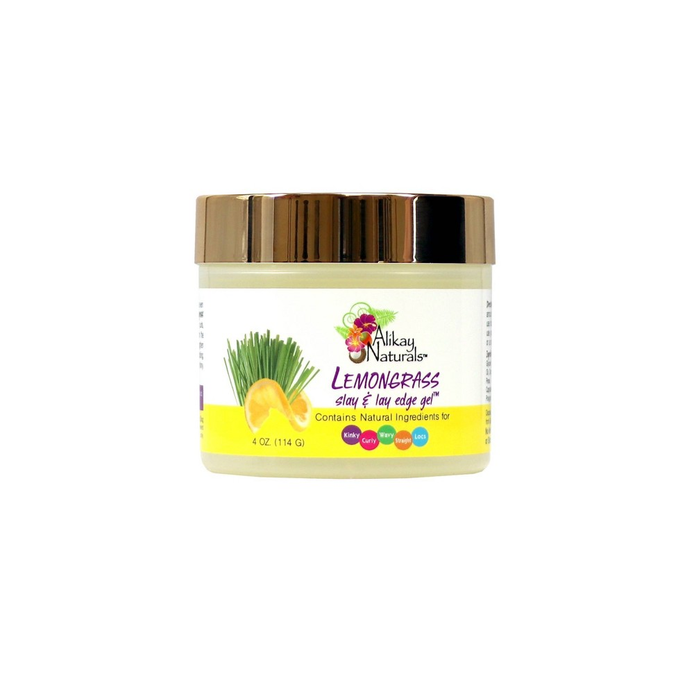 Image of Alikay Naturals Lemongrass Slay And Lay Edge Gel - 4oz