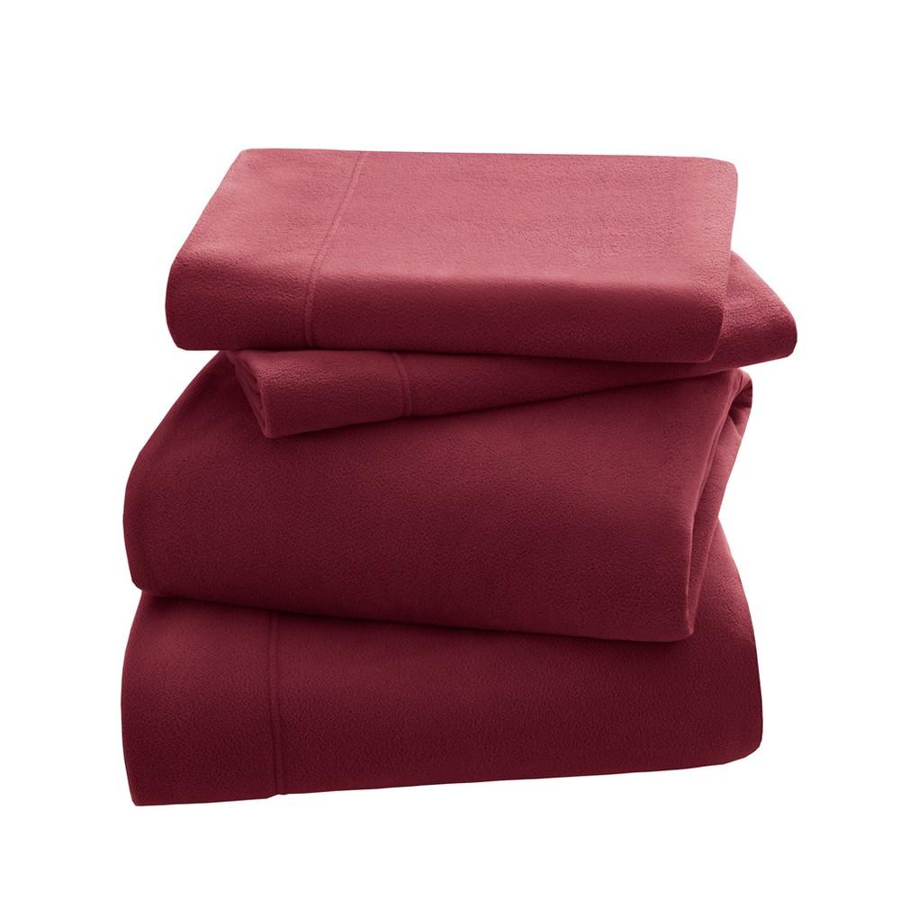 Premier Comfort Peak Performance Fleece Sheet Set - Red (Full)
