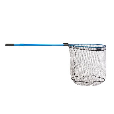 CLAM 15738 Fortis Pike & Catfish Fishing Angling Landing Net with 110 Inch Telescoping Handle, Conservation Focused Design, and Rubberized Coating