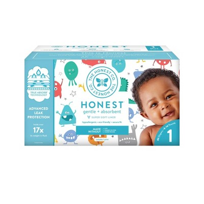 The Honest Company Mini Monsters Club Pack Diapers - Size 1 (80ct)