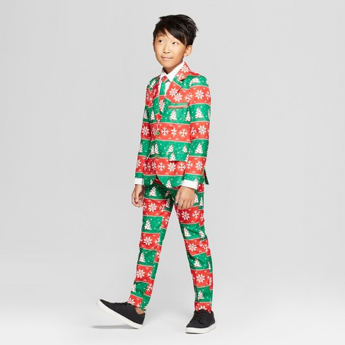 4be311dc0 Boys  Ugly Holiday Snowman Suit - Red Green M   Target