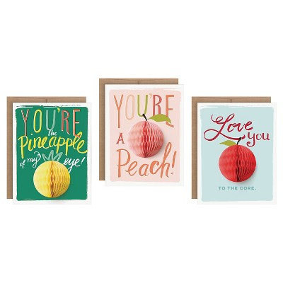 """3ct """"Love You"""" Pop-up Greeting Cards"""